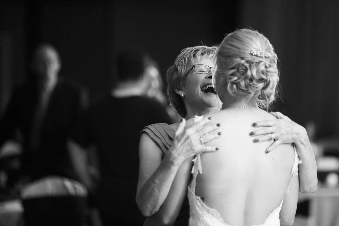 Grandmother dancing with bride