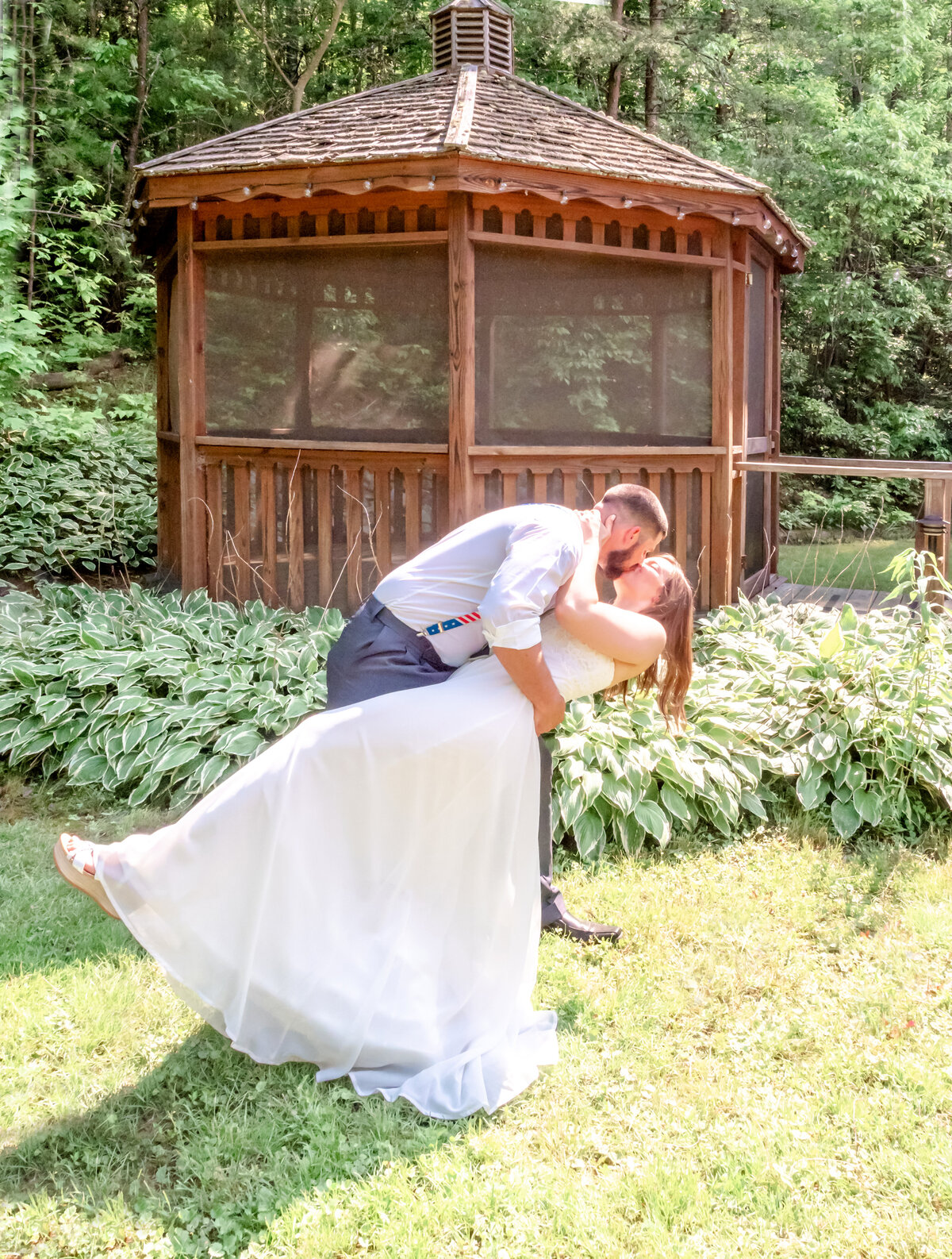 Blue Ridge Mountains Wedding Photography - Rhiannon and Chris - Bride Dip - Wilmington NC Photographers Team