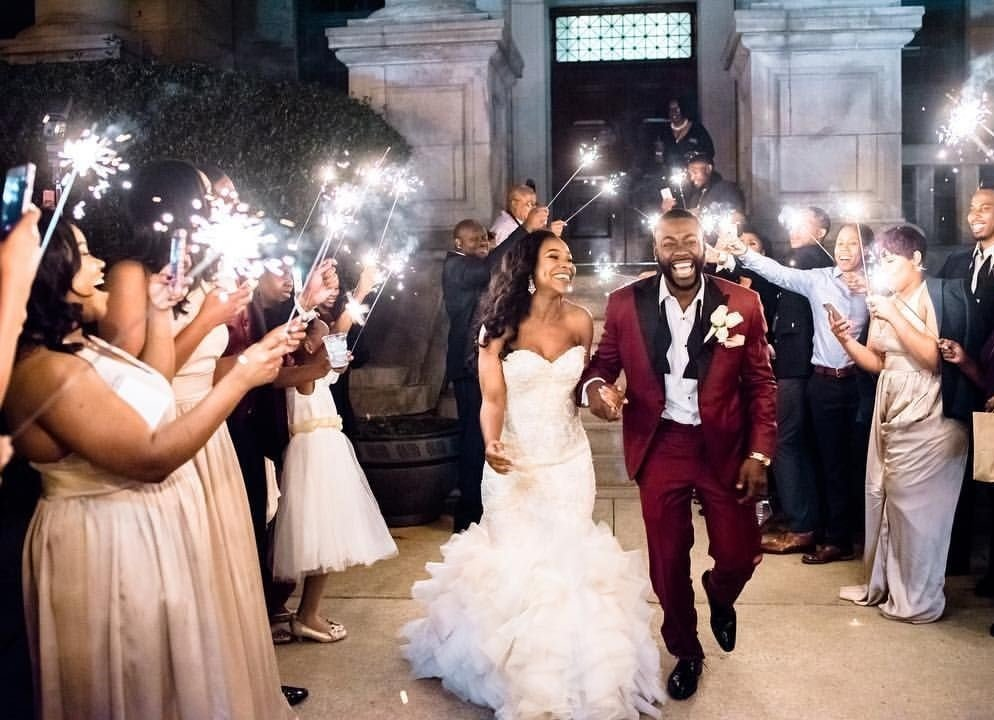 luxury wedding african american couple
