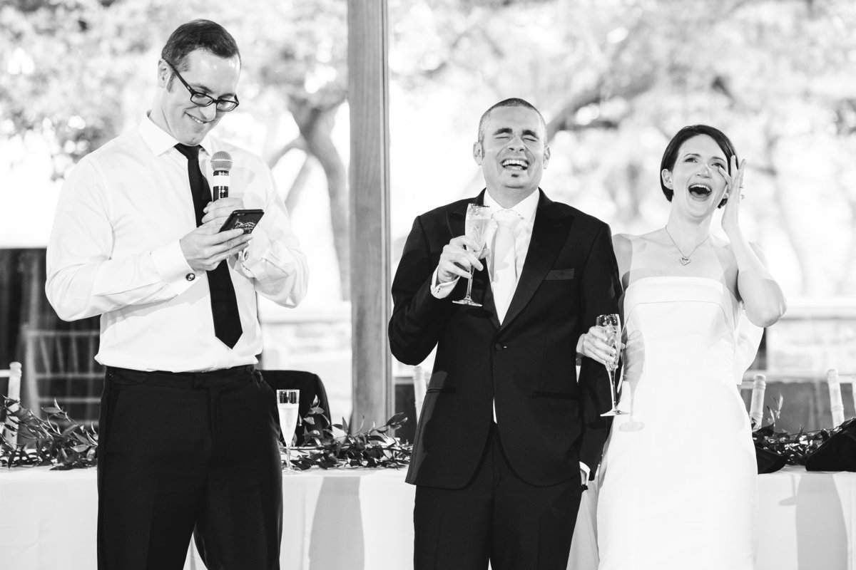canyonwood ridge wedding photographer best man toast bride groom laugh 250 S Canyonwood Dr, Dripping Springs, TX 78620