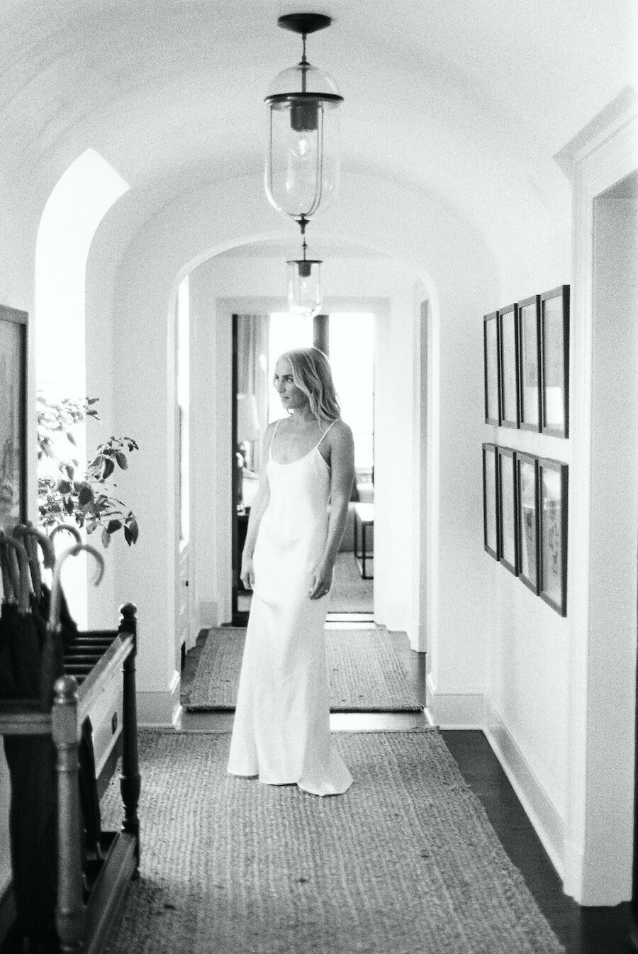 Fine Art Film Wedding Photographer Sleek Wedding Dress Robert Aveau for © Bonnie Sen Photography