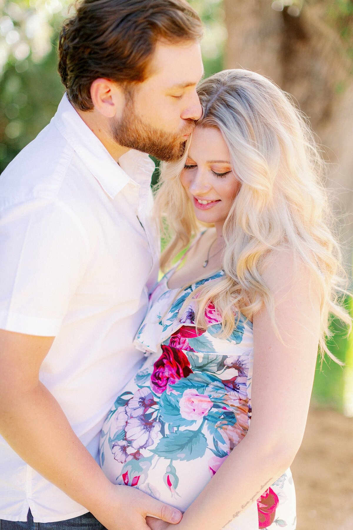 Ashley + Adrian Pamparau Washington Oaks State Park Maternity Session Photographer Casie Marie Photography-7