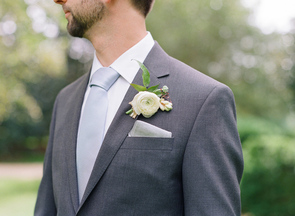 Groom with Gray Suit, Blue tie