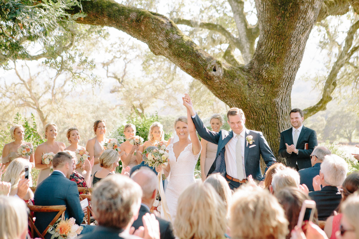 Outdoor ceremony at a wedding at Beltane Ranch in Sonoma.
