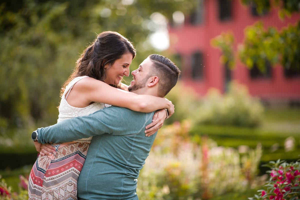 01 flower garden engagement photos roseland cottage woodstock ct