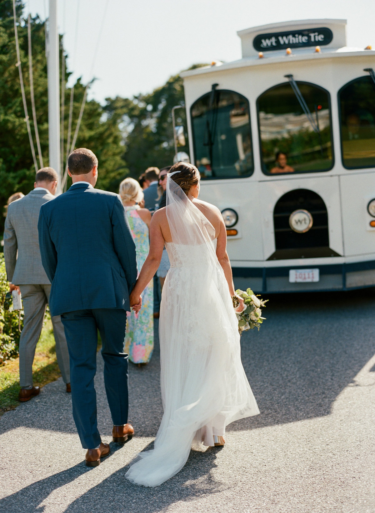 Bride and groom trolley