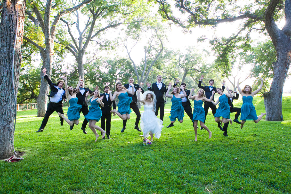 The Salt Lick, Austin Family Photographer, Tiffany Chapman Photography bridal party jump photo