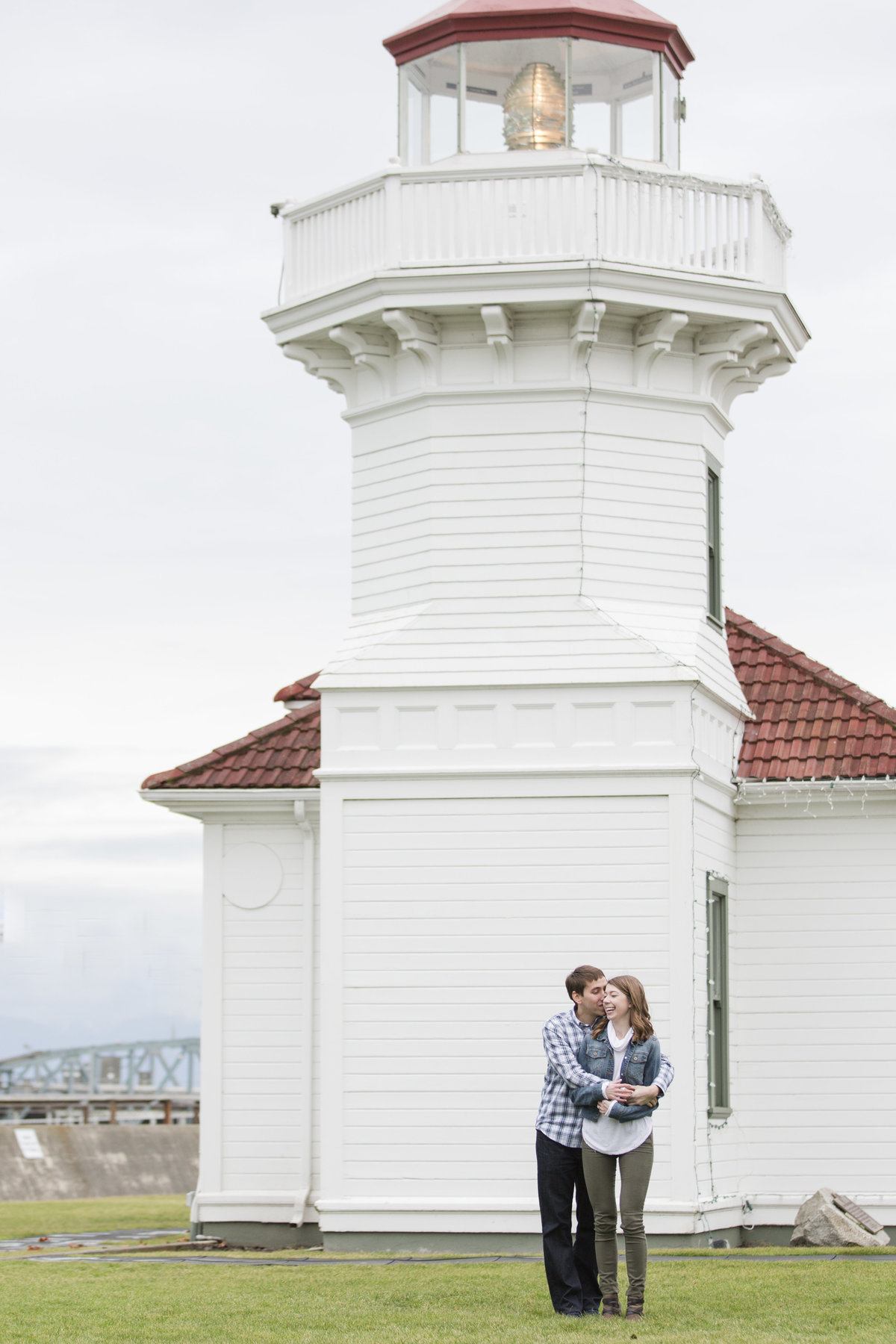 Mukilteo engagement photographer  lighthouse engagement photo