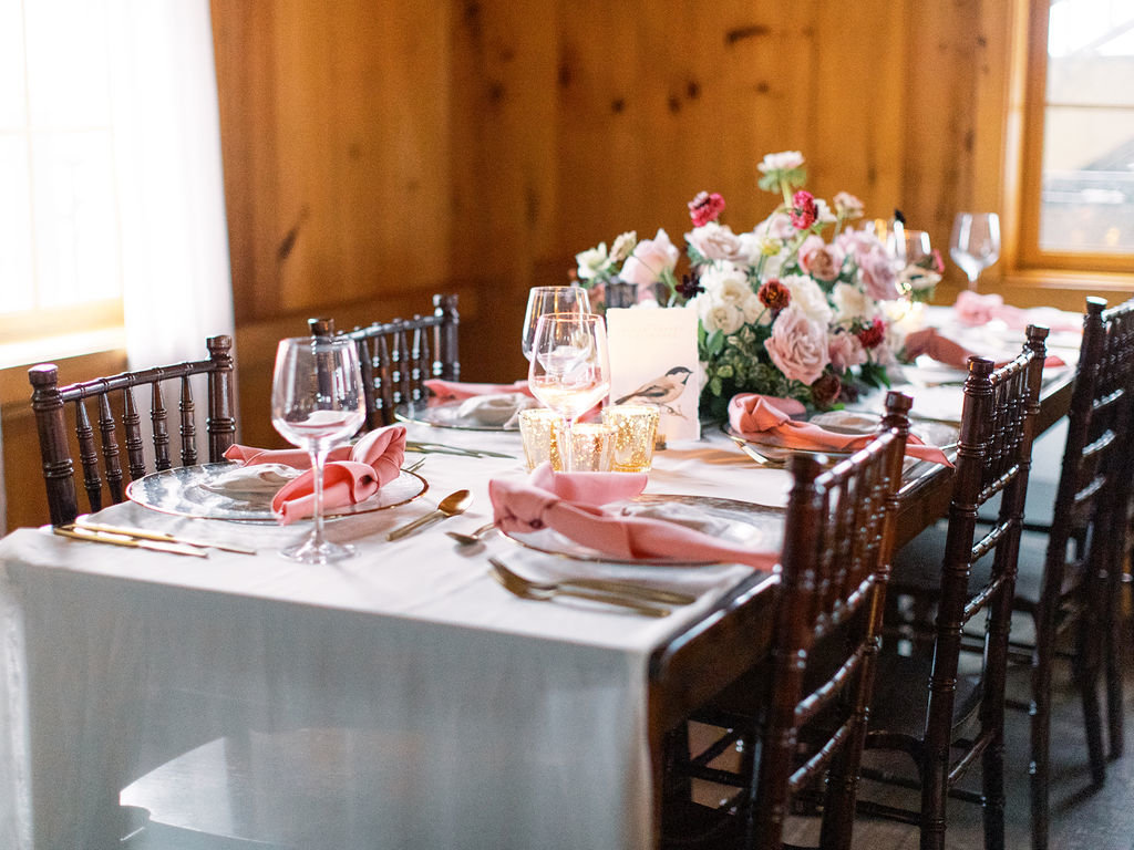 wedding reception table  Delaware florist