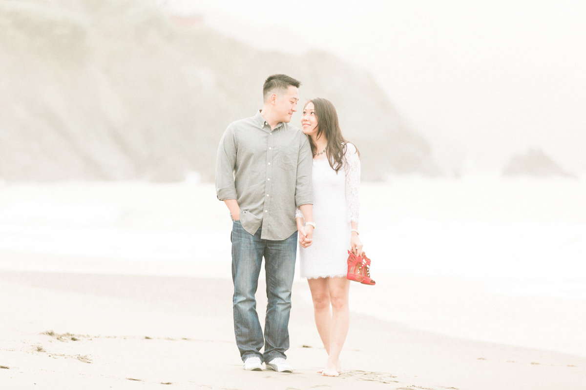 Northern California Beach Engagement Photos