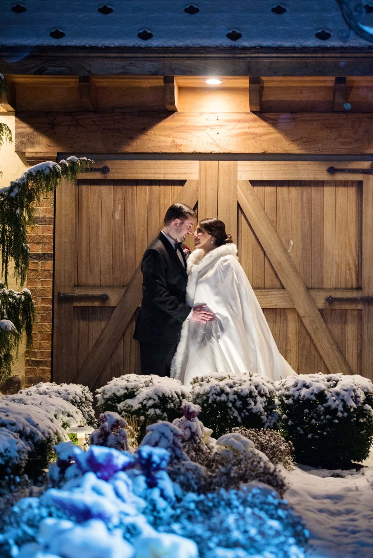Winter wedding at Larkfield Manor