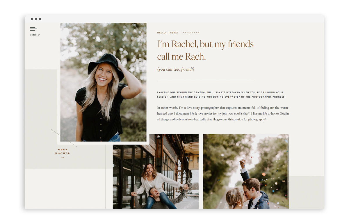 Rachel Lynn Photography - Custom Brand Logo and Showit Web Design Website Design by With Grace and Gold - Photo - 2
