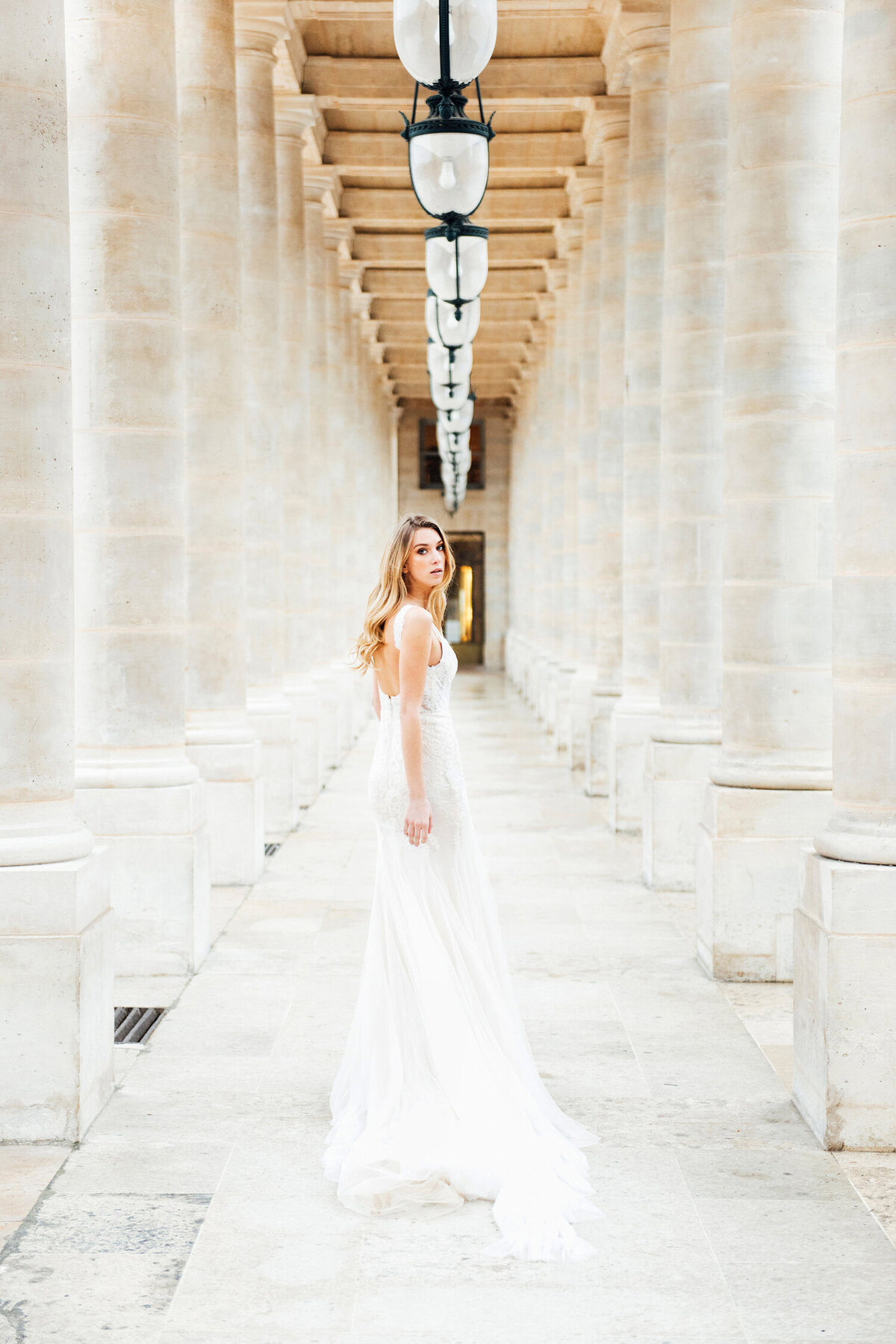Katie Mitchell, Monique Lhuillier Bridal Paris France Wedding Trine Juel Hair and makeup 22