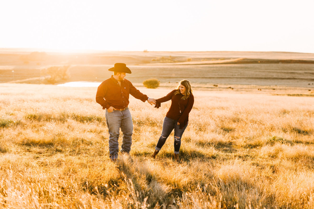okc weddings Engagements Bride Groom Western