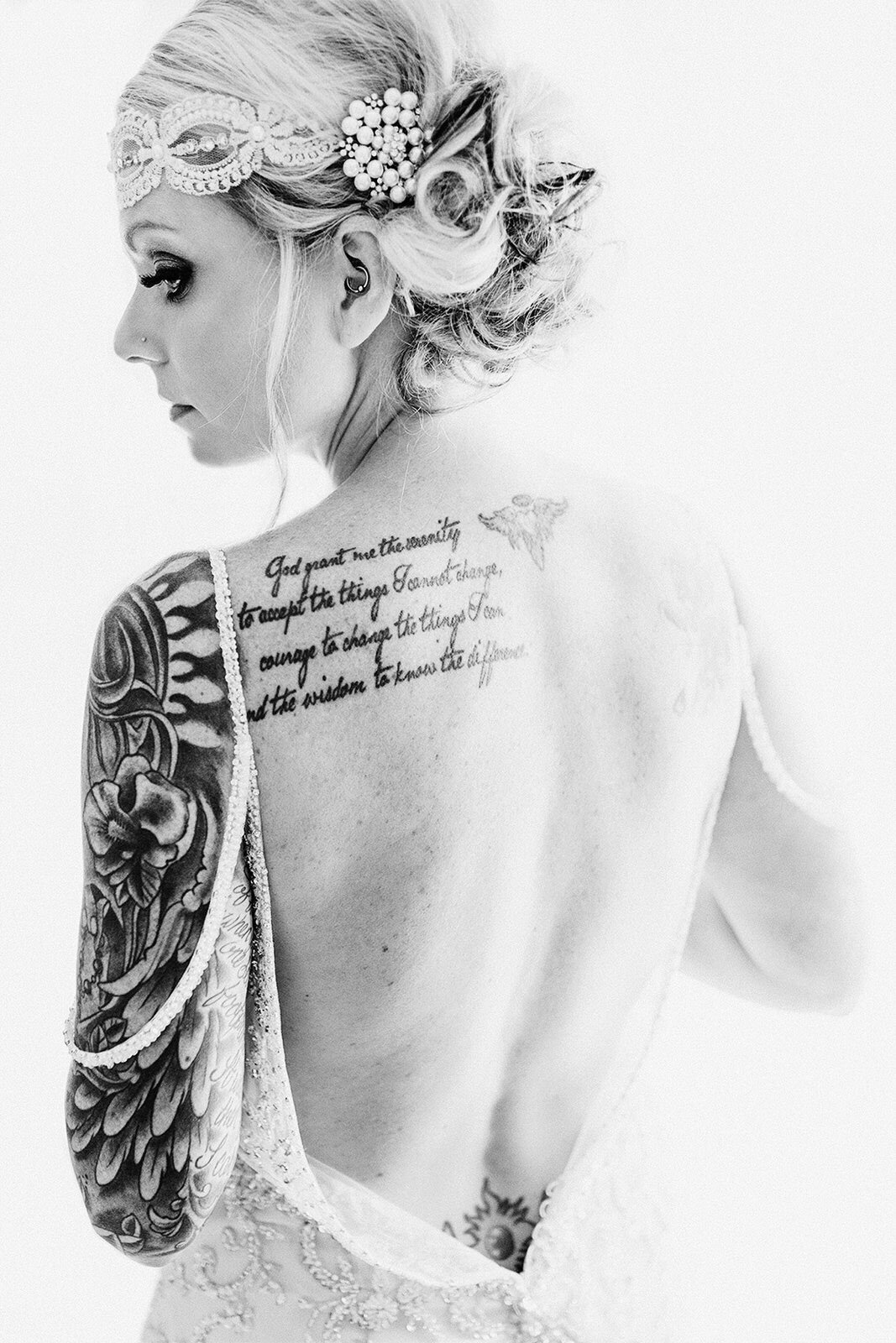 tattooed bride in iowa