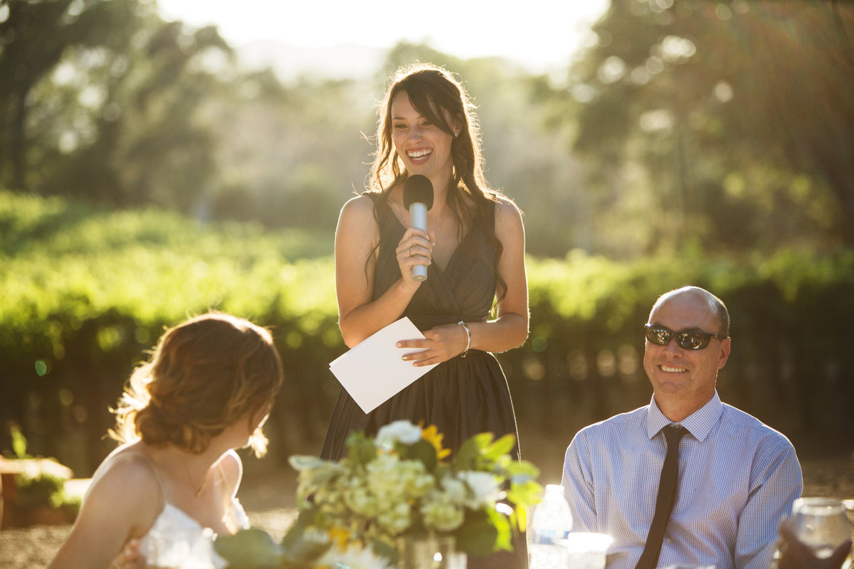 wedding toasts, wedding reception