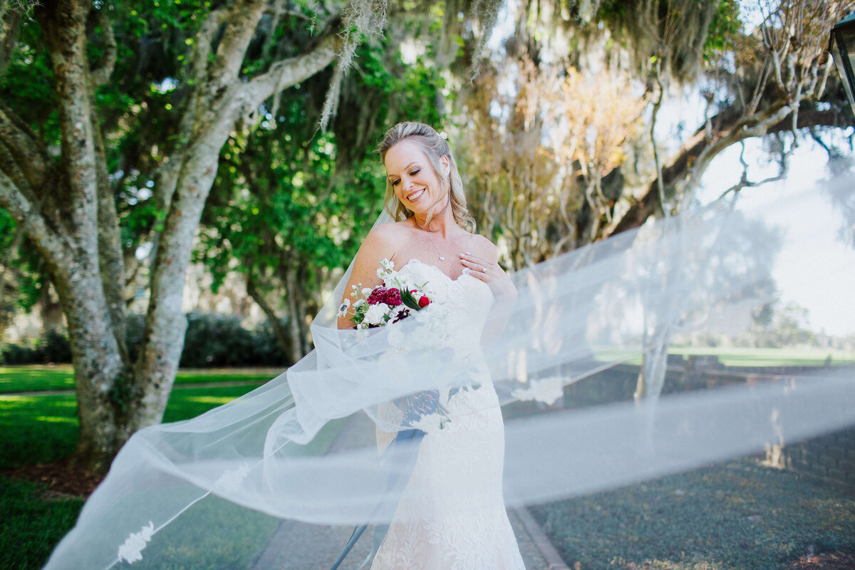 Bride in a Pronovias from Gretchen Reece Bridal Couture