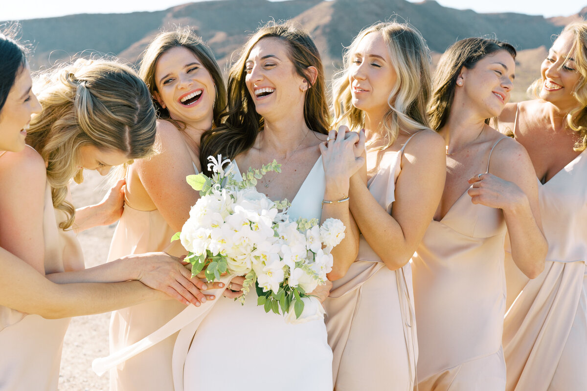 bride-and-bridesmaids-lake-las-vegas