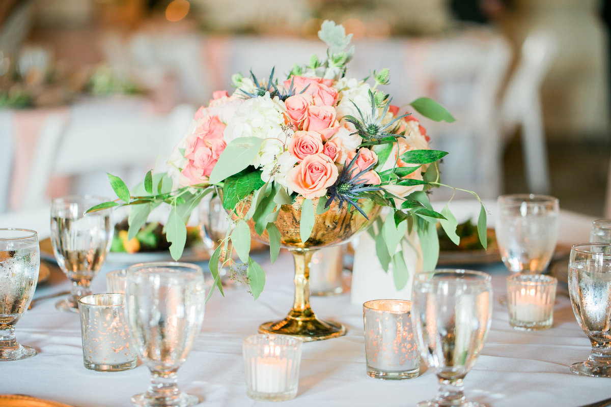 Tablescape and decor at Casa Marina Wedding Venue Jacksonville