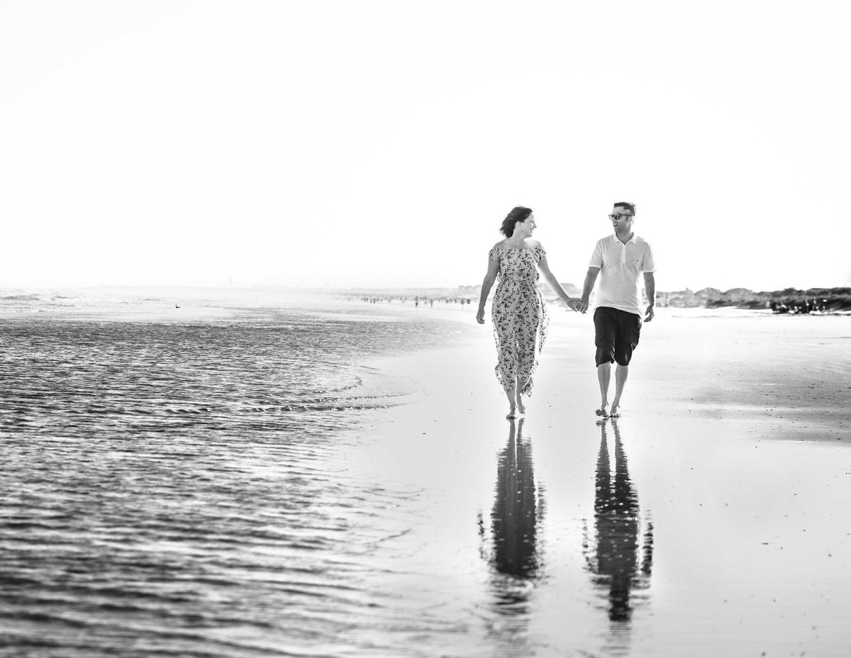 Vacation Couple Photos on Beach at Isle of Palms by King and Fields Studios Charleston SC