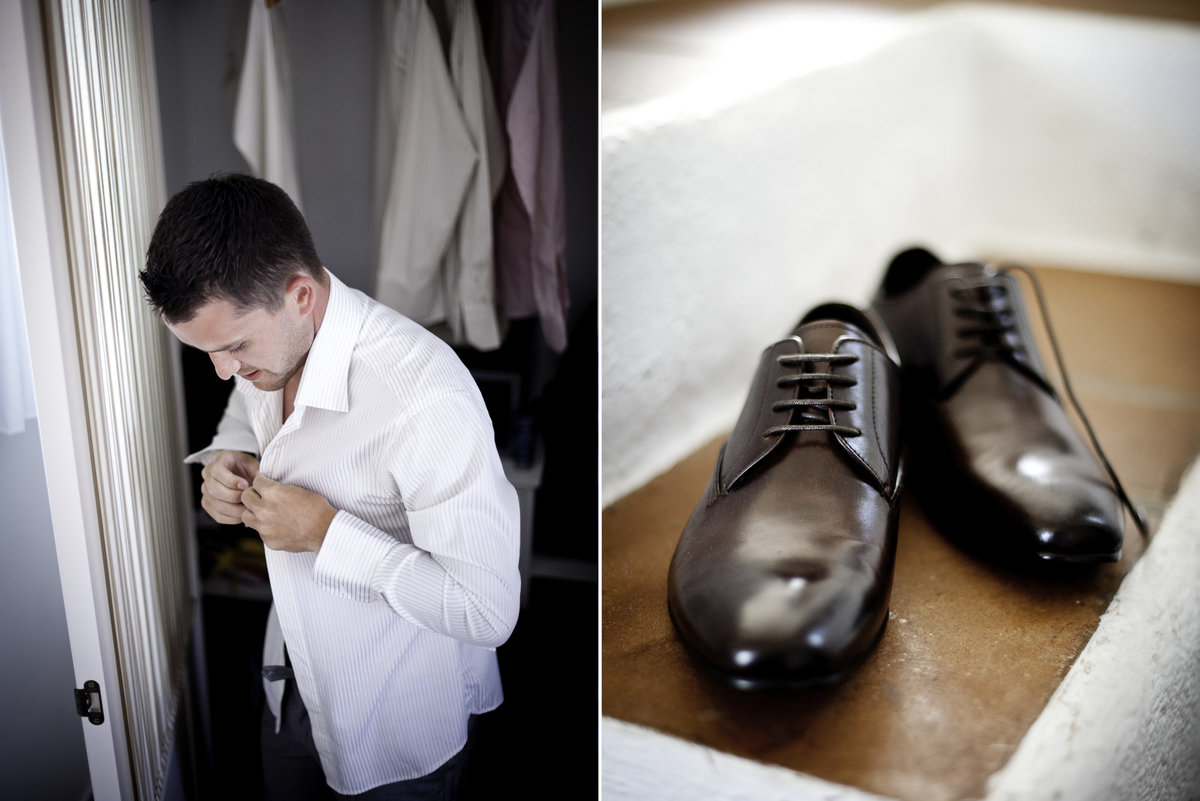 the groom getting ready for the big day photograph of his wedding shoes Nerja