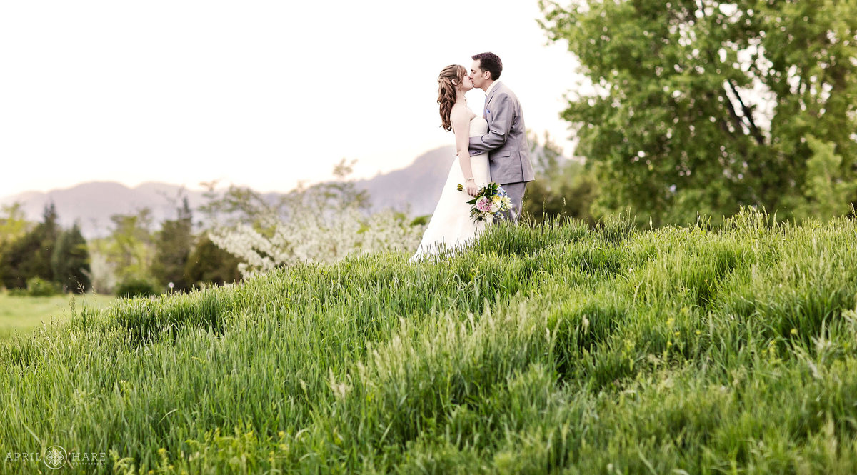 Spring wedding photography at a farm in Boulder Colorado