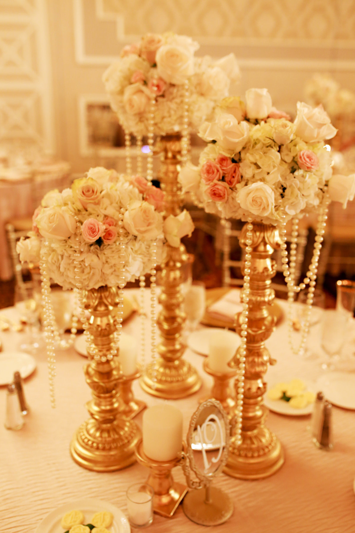 blush pink gold ivory vintage wedding venetian new jersey event designer 11
