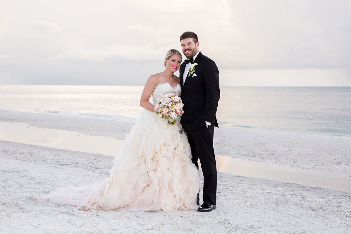 ritz carlton naples florida sunset wedding