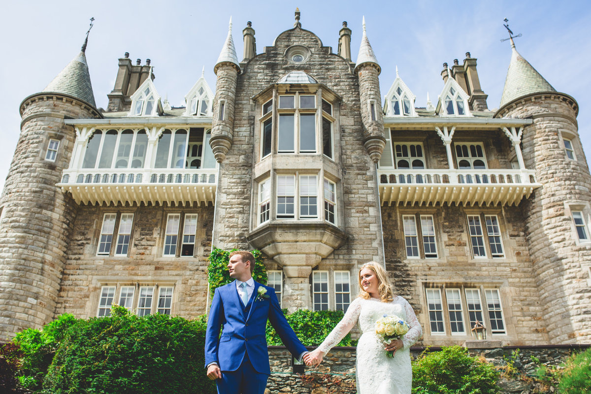 plas rhianfa castle wedding photo