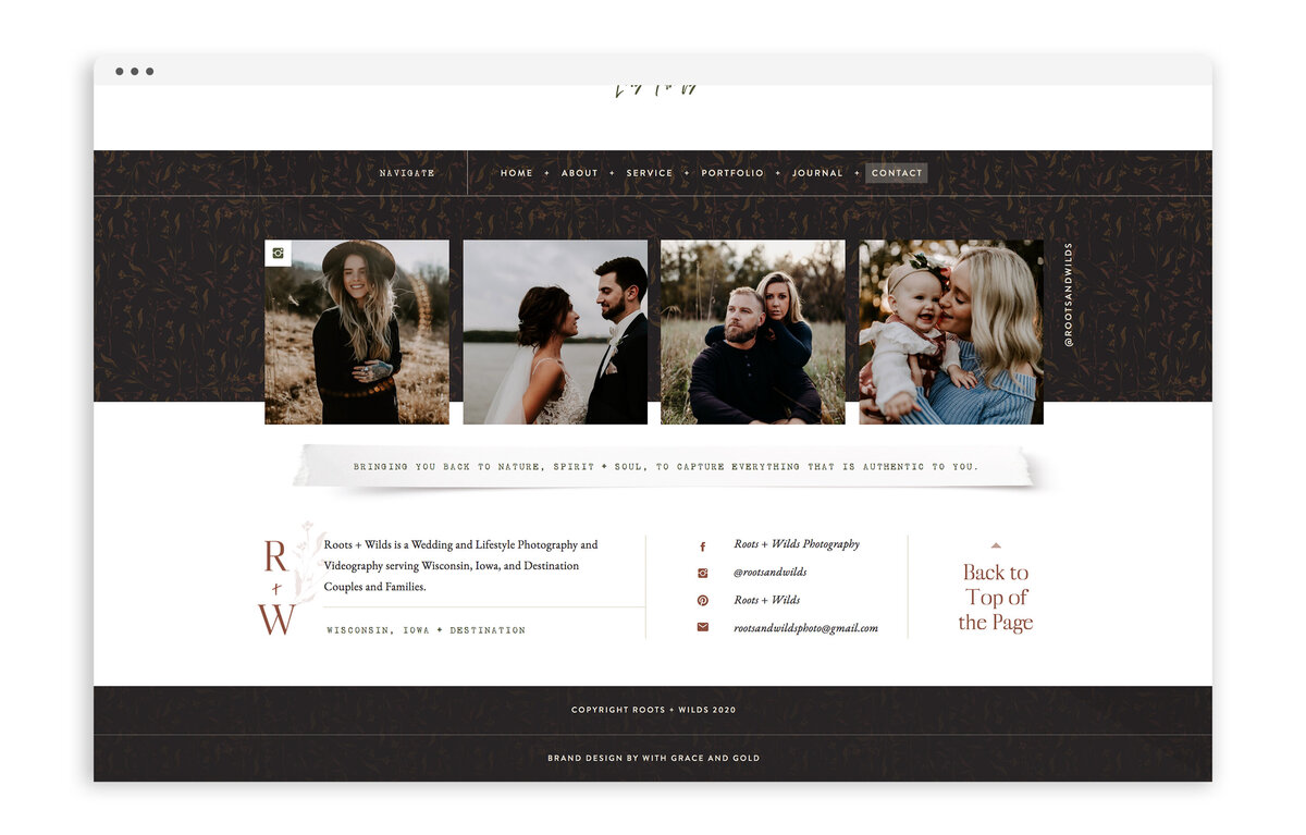 Roots and Wilds by Maggie Vetsch - Custom Brand and Showit Website Design by With Grace and Gold - Best Showit Designer - 18