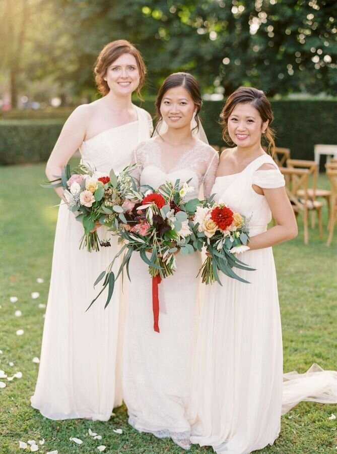 Chateau wedding, paris, 2 brides, fete in france, makeup & hair trine juel 20