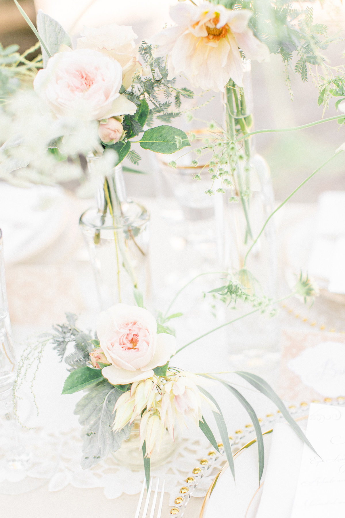 Peach Pink Gold Floral Decor
