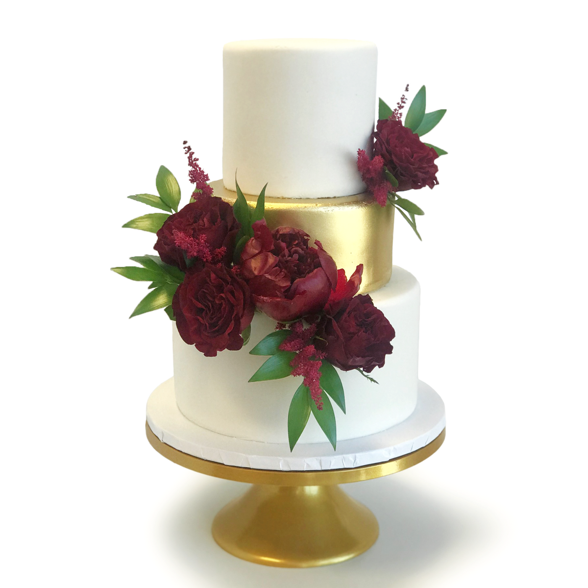 Whippt Kitchen - Wedding Cake gold and burgundy 2