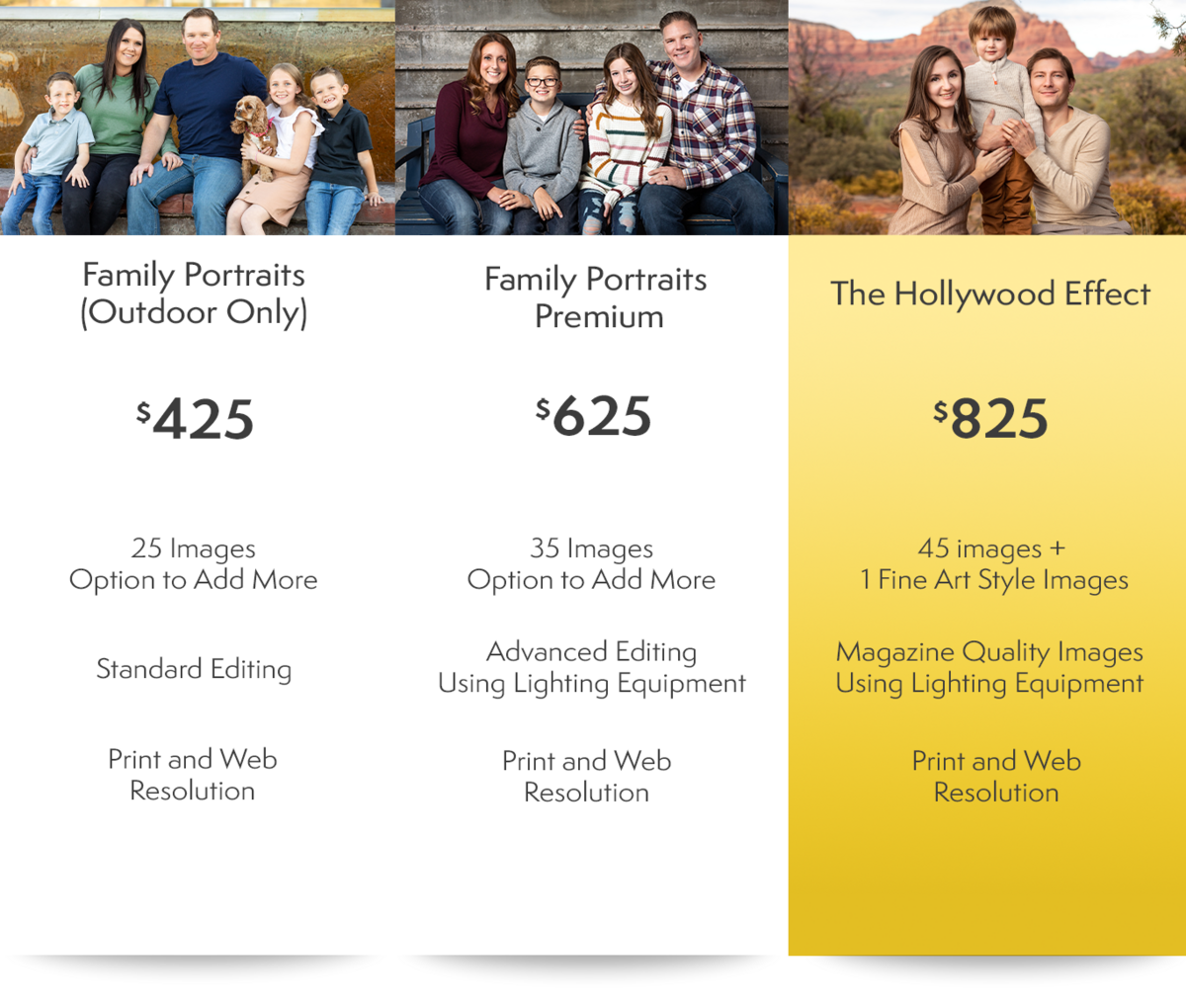 Family Portraits Packages