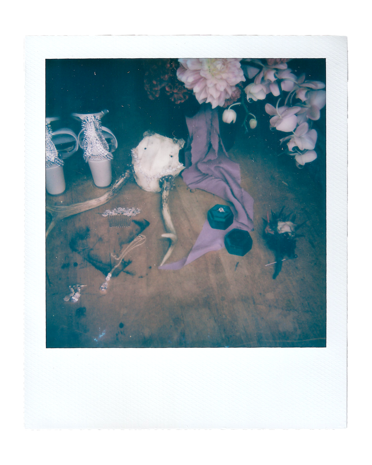Laura + Brett | Backyard Wedding Polaroids00001