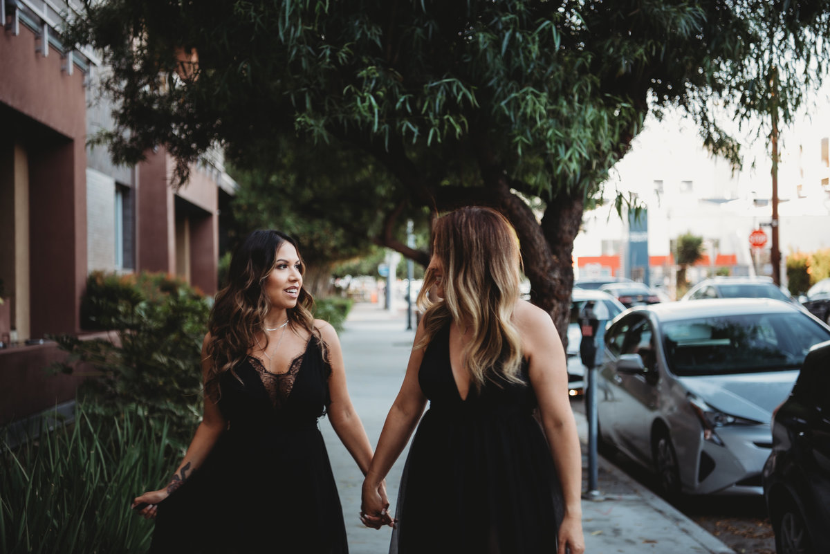 Sara and Vanessa-DTLA Engagement Session28