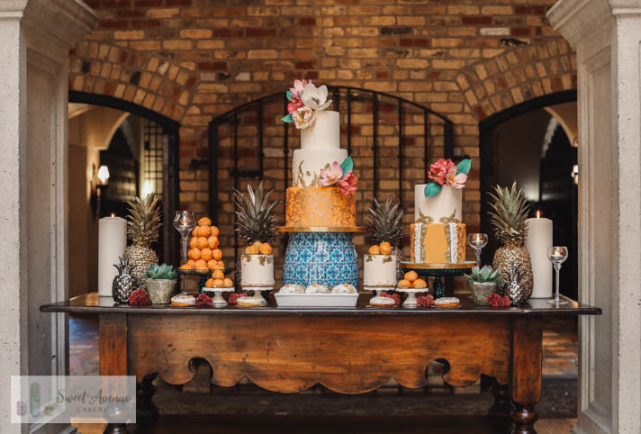 Latin inspired sweet table at Hacienda Sarria - Kitchener wedding
