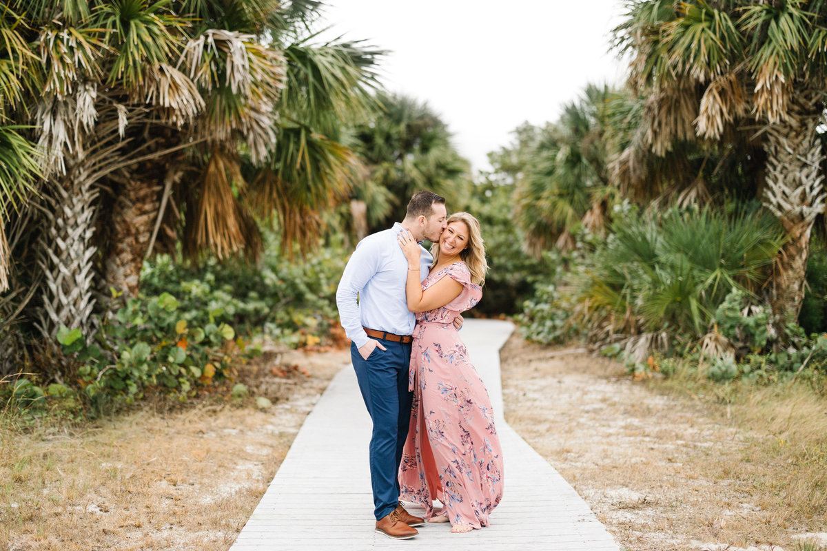Florida-Engagement-Session-Palm-Trees-Pink-Dress-Wedding