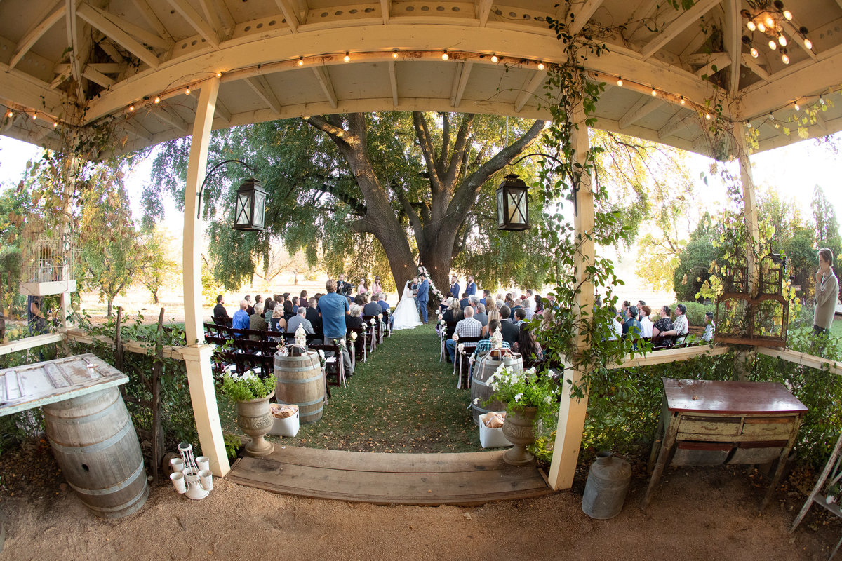 wine country wedding ceremony