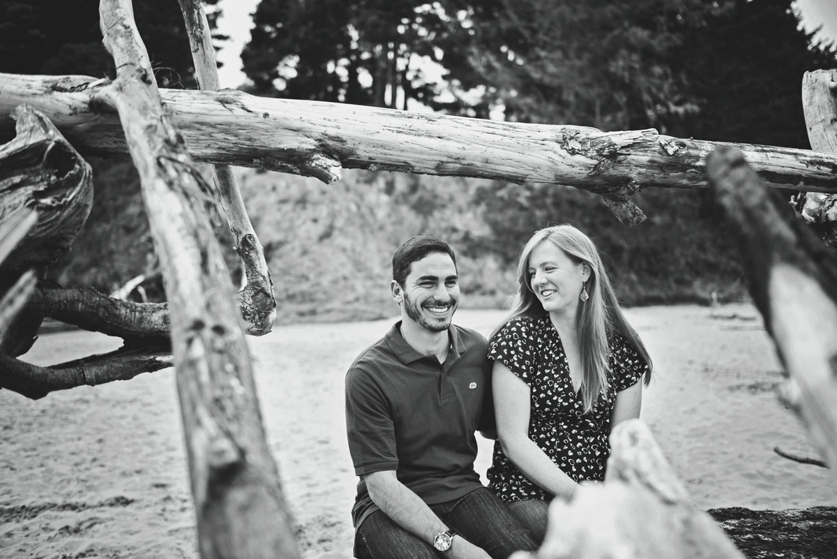Big River Beach Engagement Photography, Mendocino