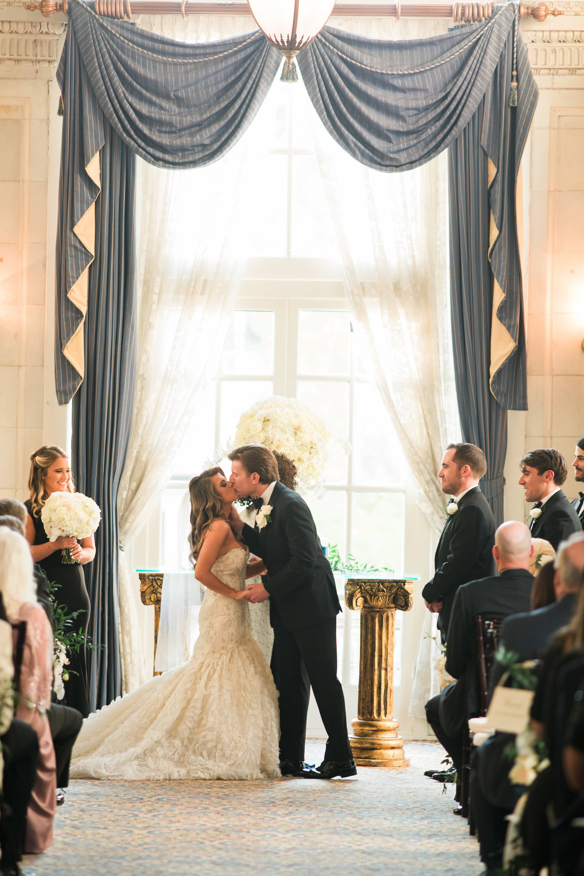 You may kiss the bride, Hermitage hotel in Nashville.