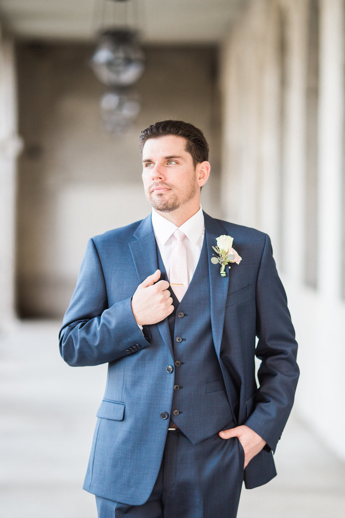 Portrait of Groom by St Augustine Wedding Photographer
