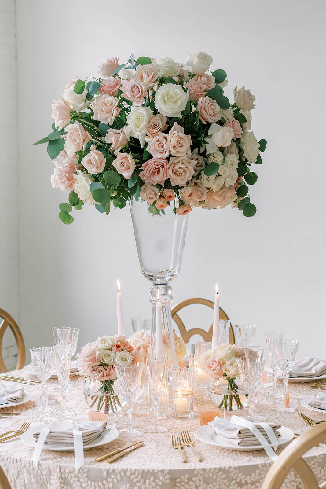 White-blush-wedding-reception-tall-centerpiece-portfolio-klassy-kreations
