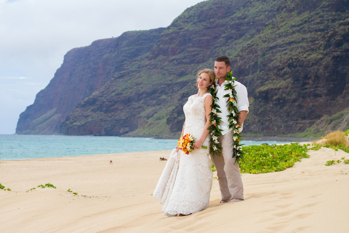 Just married on Kauai.