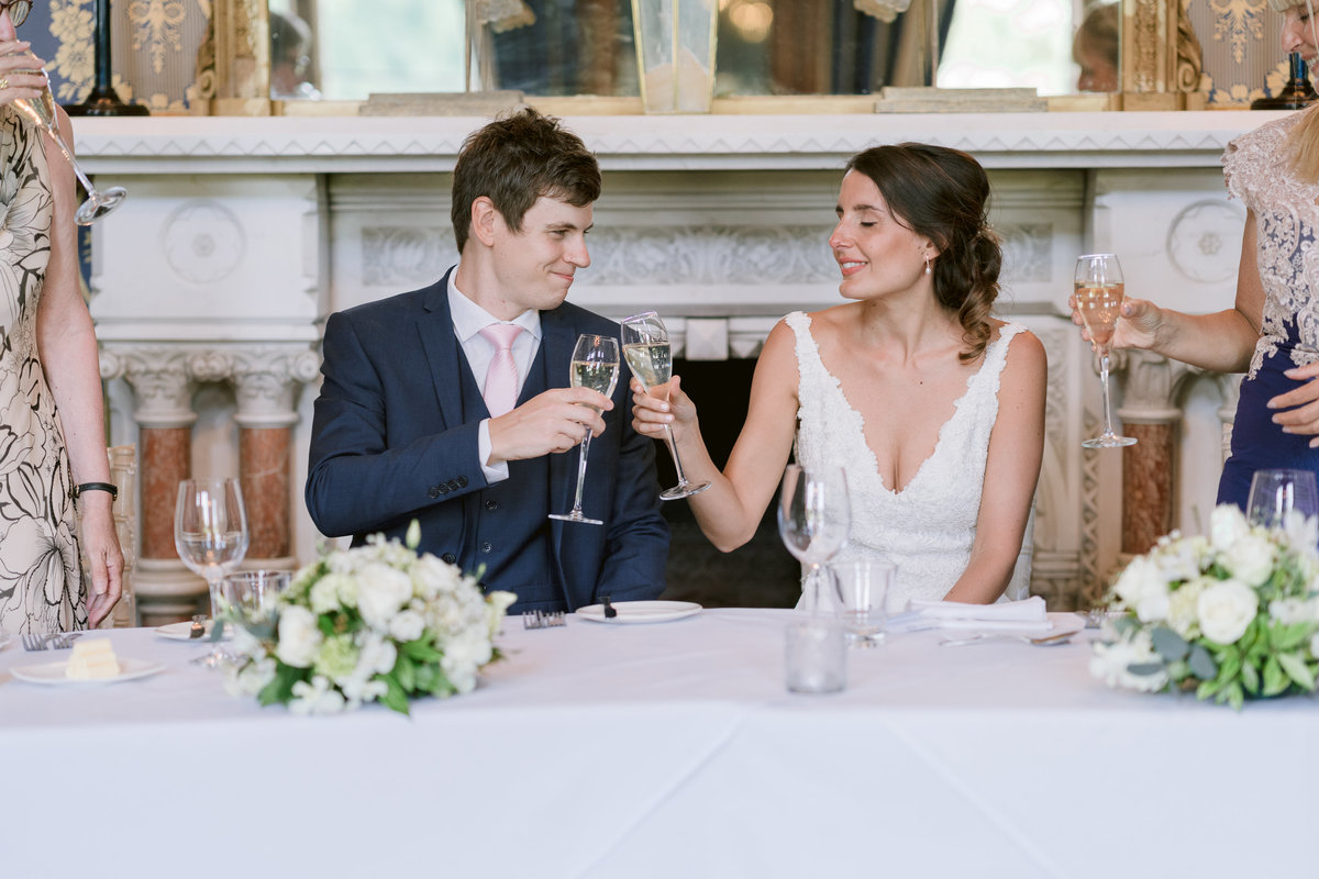 Champagne Toast Soughton Hall wedding