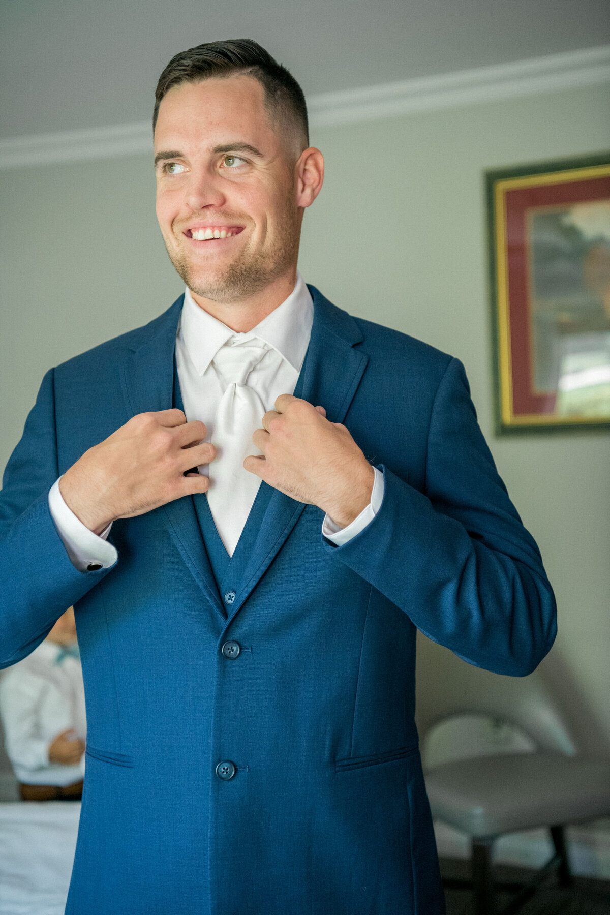 Groom dressed