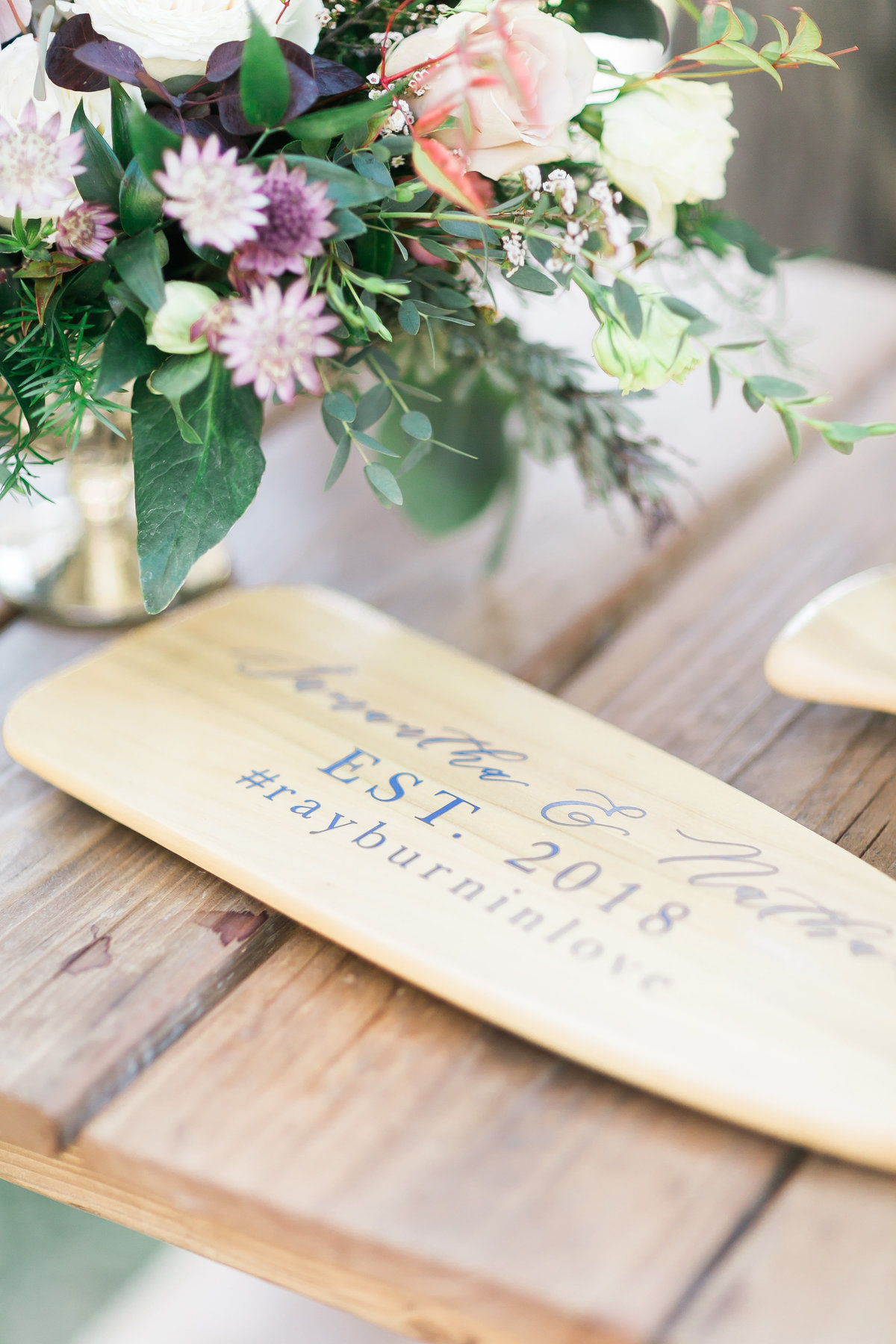 custom canoe paddle guest book for Lake Tahoe Wedding