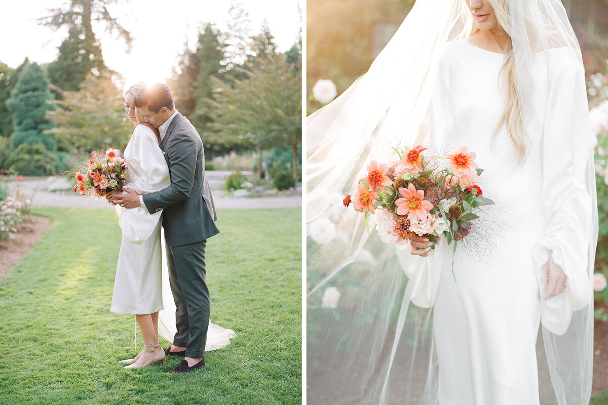 Tetiana Photography - Seattle film wedding photographer - Micro Wedding - Elopement - Rose Garden - 1