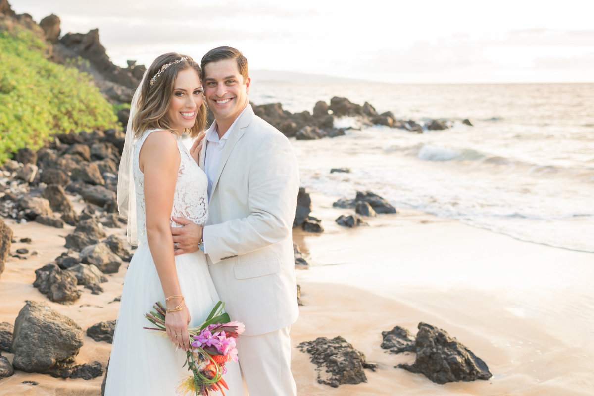 Maui bride and groom photo