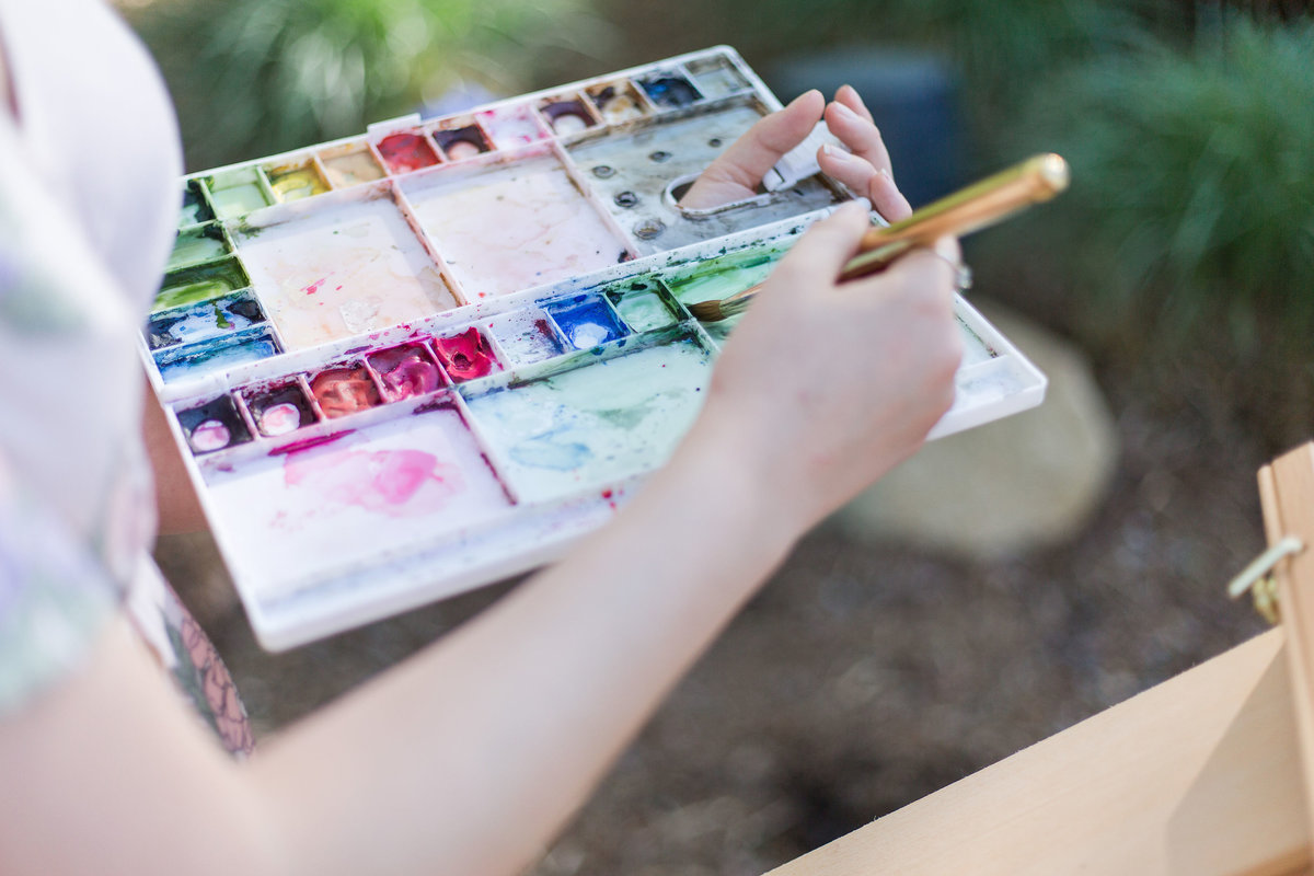Online Watercolor Lessons with Ashley Triggiano Watercolor Artist and Live Wedding Painter